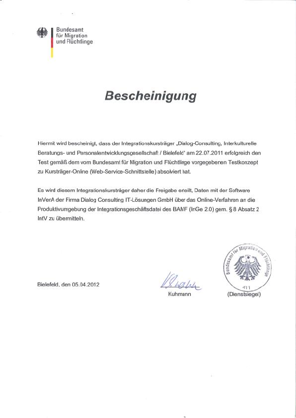 Bamf Zertifikat